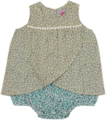 My Little Lambs Baby Girl's Green Bodysuit