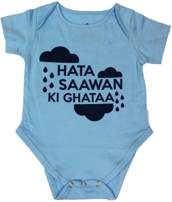 Blue Bus Store Slogan T-Shirts Baby Boys Blue Bodysuit