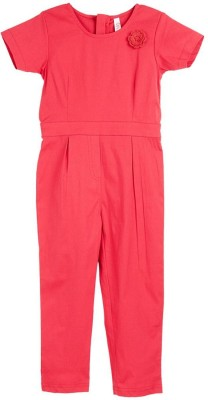 Oye Girl's Red Sleepsuit