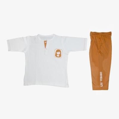 You Got Plan B Boys, Girls Orange, White Sleepsuit