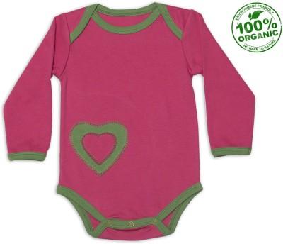 Nino Bambino Baby Girl's Pink, Green Bodysuit