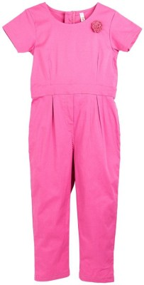 Oye Girl's Pink Sleepsuit