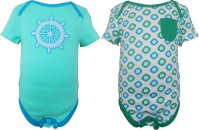 teddy's choice Baby Boy's Green Bodysuit