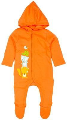 Mom & Me Baby Boy,s Orange Sleepsuit