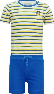 Kothari Baby Boy's White, Blue Bodysuit