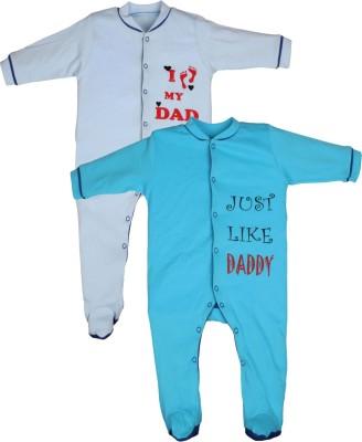 Gkidz Baby Boy's Light Blue, Blue Sleepsuit