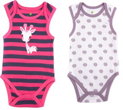 Bio Kid Grapics Designer Baby Girl's Multicolor Bodysuit