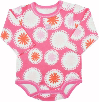 Ole Baby Style Star Baby Girl's Pink, White Bodysuit