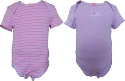 Teddy's choice Baby Girl's Pink purple, Purple Bodysuit