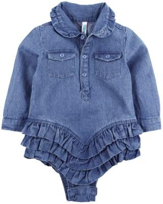 Snuggles Baby Girl's Light Blue Bodysuit