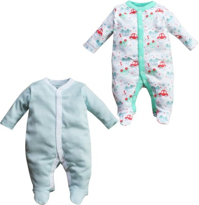 FS Mini Klub PO2 Fashion Sleepsuits Baby Boy's Light Green Sleepsuit