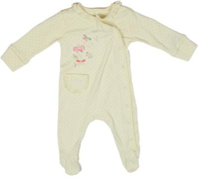 Mothercare Baby Girl's Baby Girl's Yellow Bodysuit
