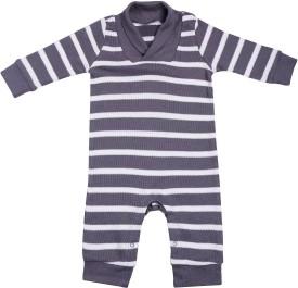NeedyBee Baby Boys Grey Bodysuit