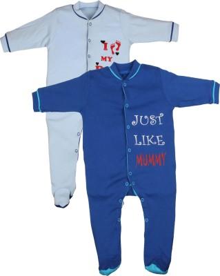 Gkidz Baby Boy's Light Blue, Dark Blue Sleepsuit