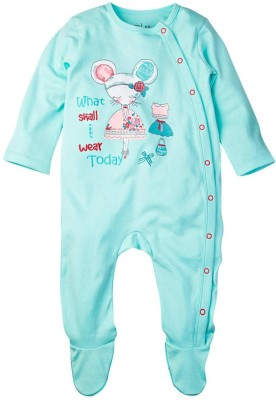 Mom & Me Baby Girl's Green Sleepsuit