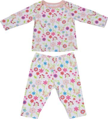 Babysafe Baby Girl's Multicolor Sleepsuit
