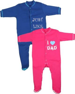 Gkidz Baby Boy's Dark Blue, Pink Sleepsuit