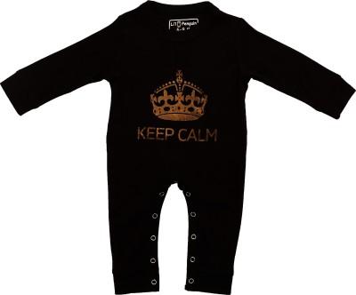LIL PENGUIN Baby Boy's Black Bodysuit