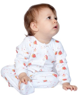 BACHHA ESSENTIAL Baby Boy's Pink Snails Bodysuit