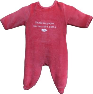 Instyle Baby Girl's Dark Pink Bodysuit
