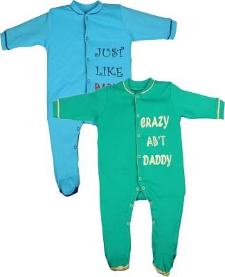 Gkidz Baby Boy's Blue, Green Sleepsuit