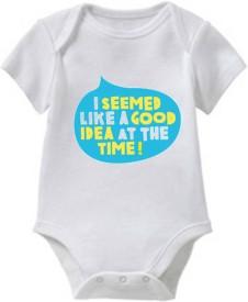 Chota Packet Baby Boys White Bodysuit