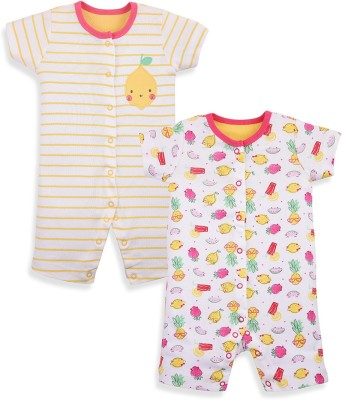 Mothercare Baby Girl's Baby Girl's White, Yellow Bodysuit