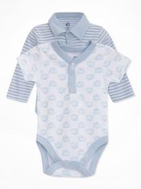 FS Mini Klub Baby Boys LT BLUE Bodysuit