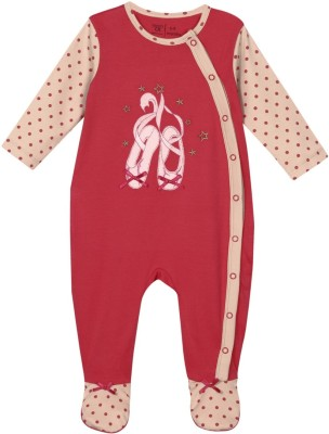 Mom & Me Baby Girl's Multicolor Sleepsuit