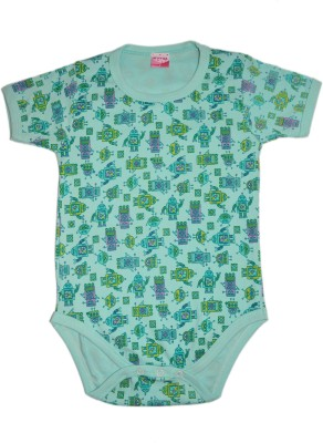 Myfaa Baby Boy's Light Green Bodysuit