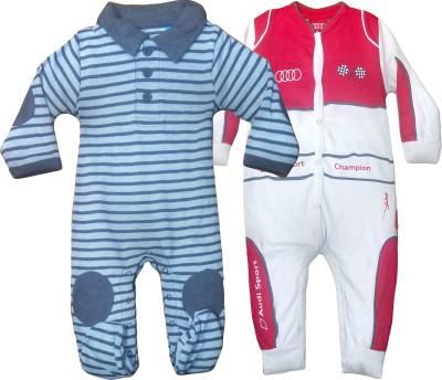 Instyle Baby Boy's Blue, White Bodysuit