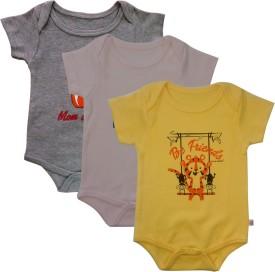 Little Throne Baby Boys Yellow, Pink, Grey Bodysuit