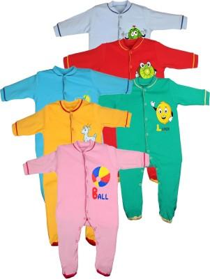 Gkidz Baby Girl's Multicolor Sleepsuit
