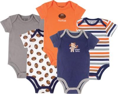 Luvable Friends Baby Boy's Blue, Grey, Orange Bodysuit