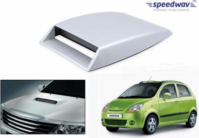 Speedwav Car Turbo Style Air Intake White-Chevrolet Spark Old Bonnet Scoop