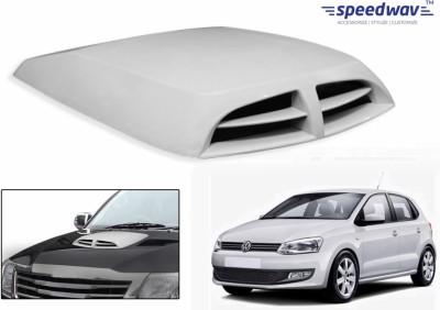 Speedwav Car Double Vent Air Intake White-Volkswagen Polo Old Bonnet Scoop