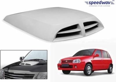 Speedwav Car Double Vent Air Intake White-Maruti Zen Old Bonnet Scoop