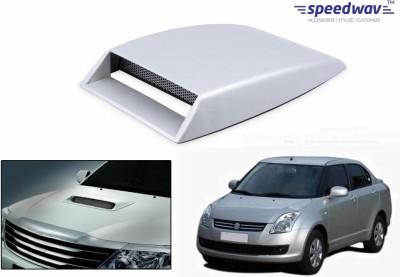 Speedwav Car Turbo Style Air Intake White-Maruti Swift Dzire Old Bonnet Scoop