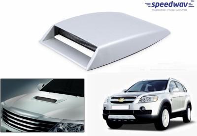 Speedwav Car Turbo Style Air Intake White-Chevrolet Captiva Old Bonnet Scoop