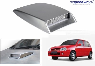 Speedwav Car Turbo Style Air Intake Silver-Maruti Zen Old Bonnet Scoop