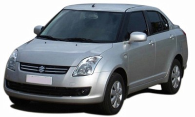 Speedwav Car Double Vent Air Intake Scoop White-Maruti Swift Dzire Old Bonnet Scoop
