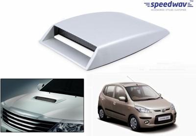 Speedwav Car Turbo Style Air Intake White-Hyundai i10 Old Bonnet Scoop