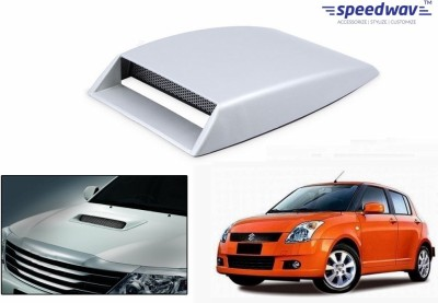 Speedwav Car Turbo Style Air Intake White-Maruti Swift Old Bonnet Scoop