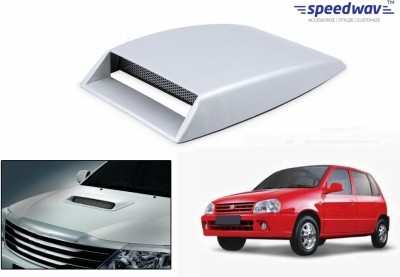 Speedwav Car Turbo Style Air Intake White-Maruti Zen Old Bonnet Scoop