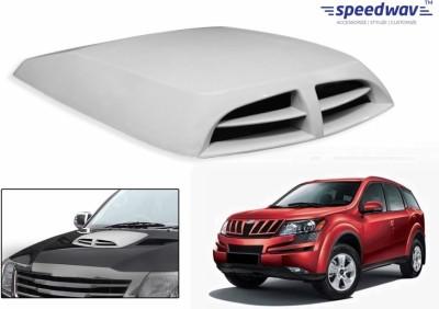 Speedwav Car Double Vent Air Intake White-Mahindra XUV 500 Bonnet Scoop