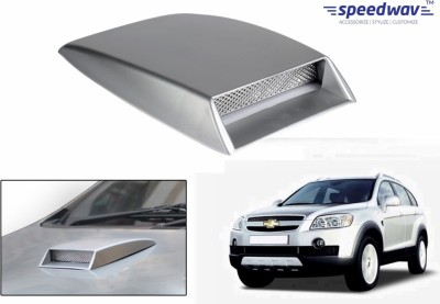 Speedwav Car Turbo Style Air Intake Silver-Chevrolet Captiva Old Bonnet Scoop