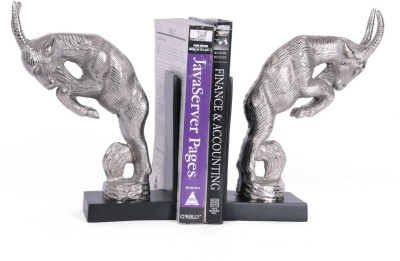 Collectible India Aluminium Book End(Silver, Pack of 2)