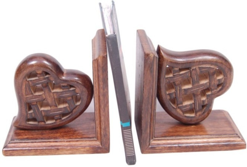 Onlineshoppee Wooden Book End(Brown, Pack of 2)