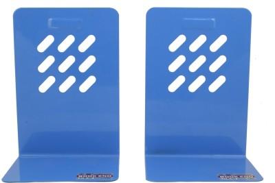 Zheng Gang Iron Book End(Blue, Pack of 2)