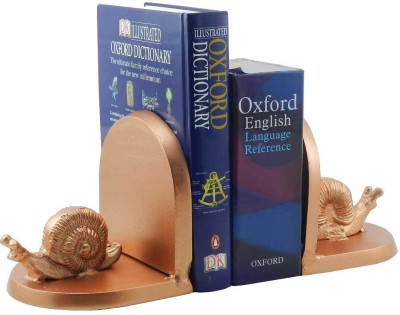 Gaarv Snail Bookend Aluminium Book End(Copper, Pack of 2)